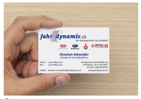 Superb1A Design - Work Samples - 2014 - Businesscards - Fahrdynamic Automobile AG