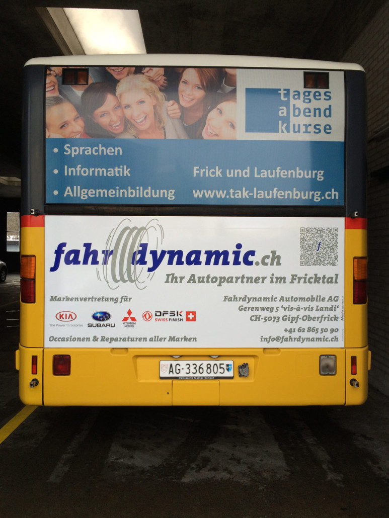 Superb1A Design - Work Samples - 2015 - Buswerbung für Fahrdynamic Automobile AG