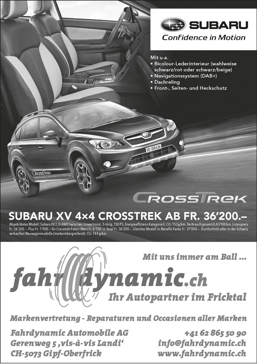 Fahrdynamic Automobile AG - Zeitungsinserat schwarz-weiss