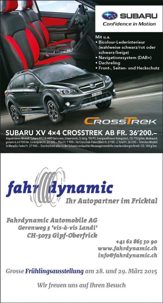 Superb1A Design - Work Samples - 2015 - newspaper advertisement - Fahrdynamic Automobile AG
