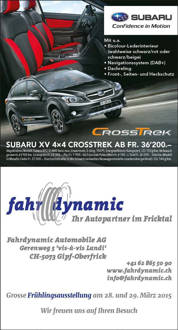 Superb1A Design - Work Samples - 2015 - newspaper advertisement - Fahrdynamic Automobile AG