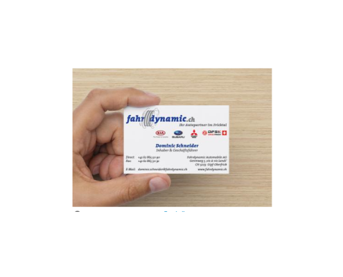 Fahrdynamic Automobile AG - Businesscard