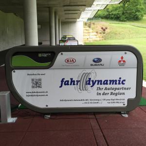Fahrdynamic Automobile AG - Golfplatzwerbung 2014