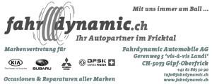Fahrdynamic Automobile AG - Inserat schwarz-weiss