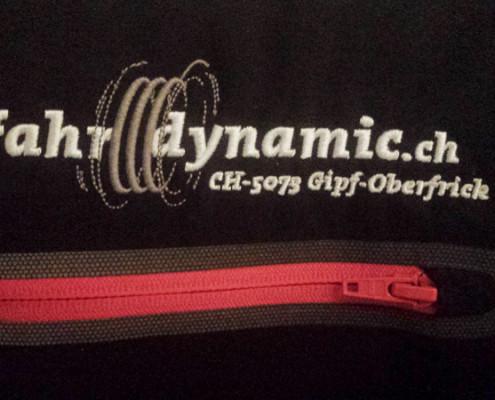 Fahrdynamic Automobile AG - Logovariante für Stickerei auf Jacke