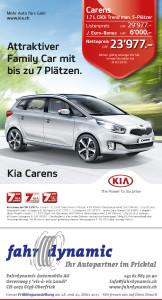Fahrdynamic Automobile AG - Zeitungsinserat KIA
