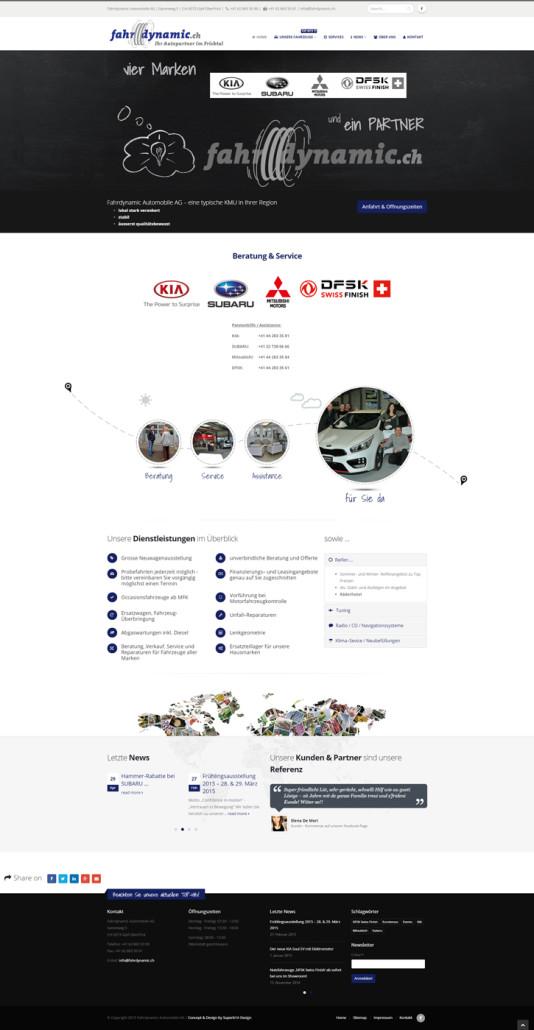 2015-06-30 15:53 - Die neu Site der Fahrdynamic ist online!